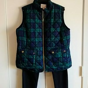 St. John's Bay Jackets & Coats - Plaid Quilted Vest Women's Size XL